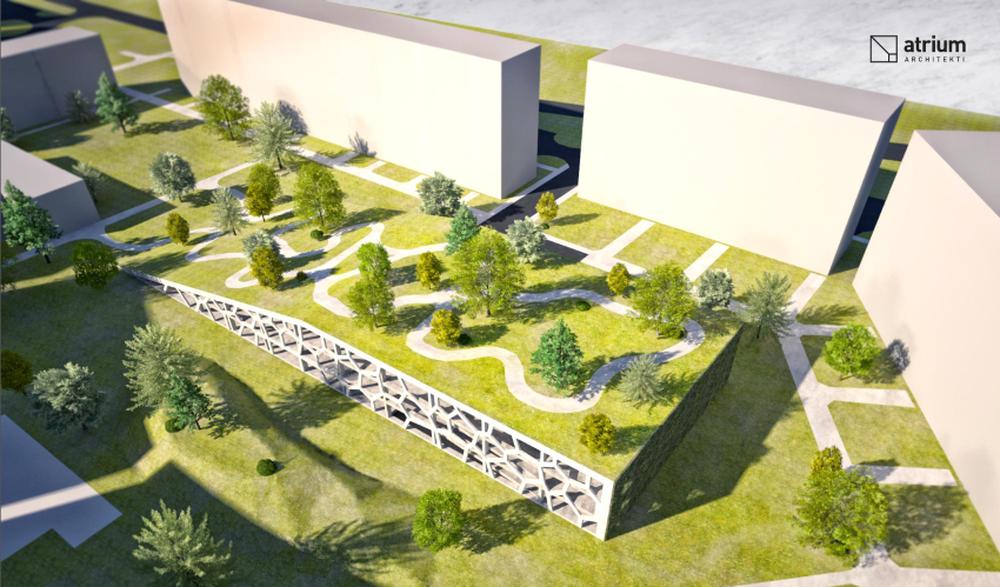 Parkovací dom Osiková ulica - návrh architektonické štúdio Atrium, foto 2