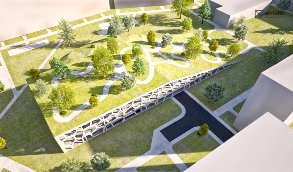 Parkovací dom Osiková ulica - návrh architektonické štúdio Atrium, foto 3