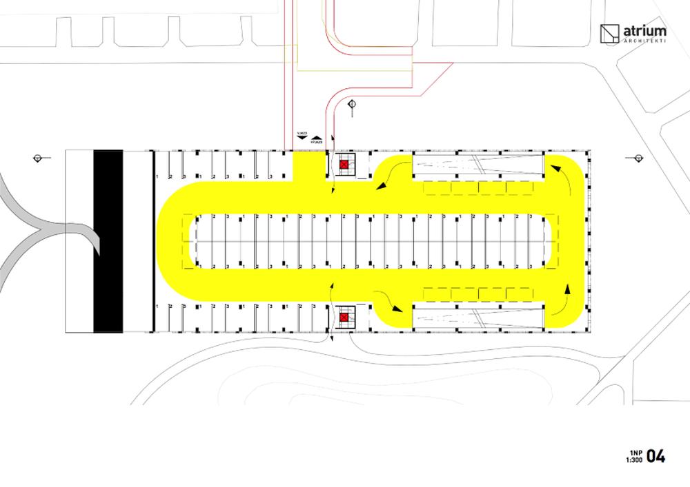 Parkovací dom Osiková ulica - návrh architektonické štúdio Atrium, foto 7