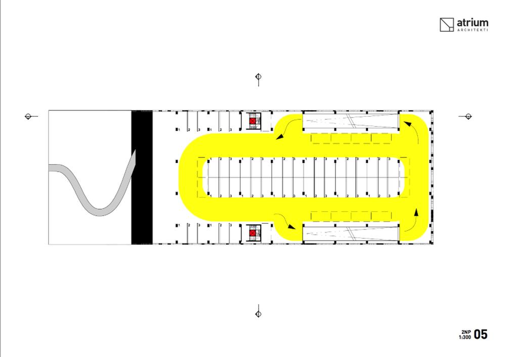 Parkovací dom Osiková ulica - návrh architektonické štúdio Atrium, foto 8