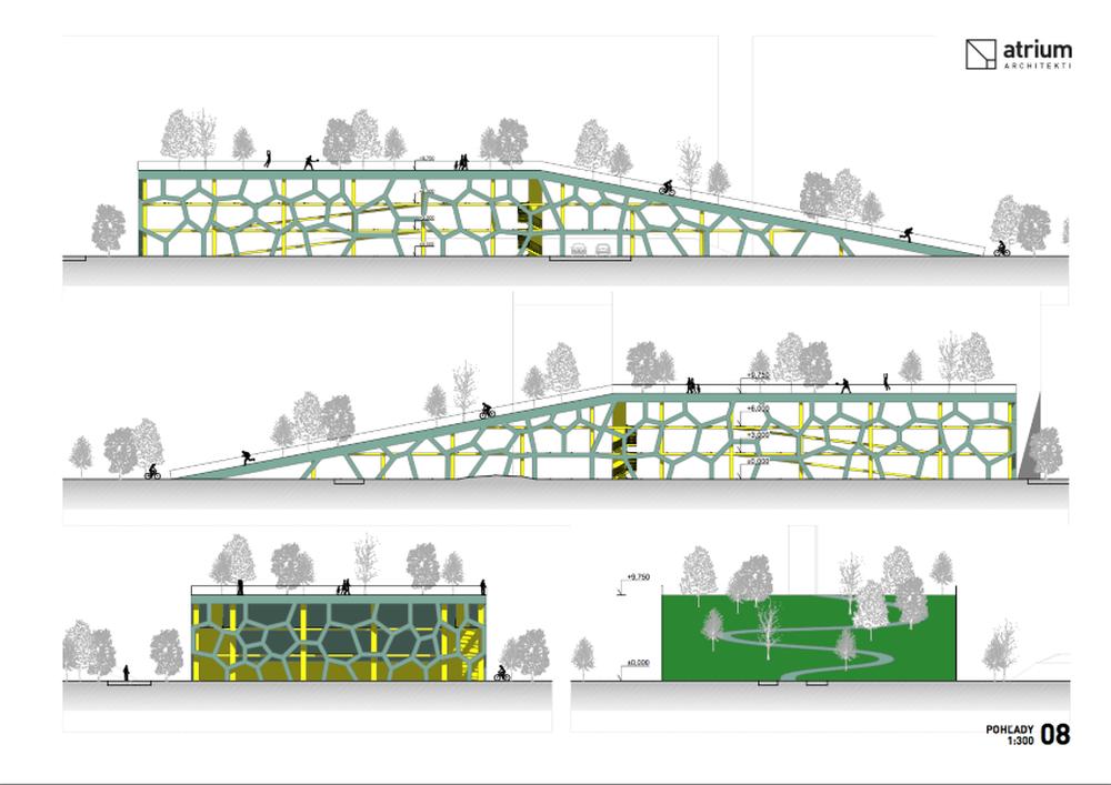 Parkovací dom Osiková ulica - návrh architektonické štúdio Atrium, foto 11