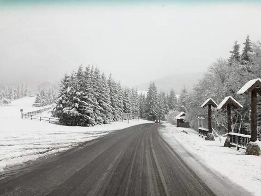 Stav ciest v Žilinskom kraji po snežení - 18.4.2017, foto 3