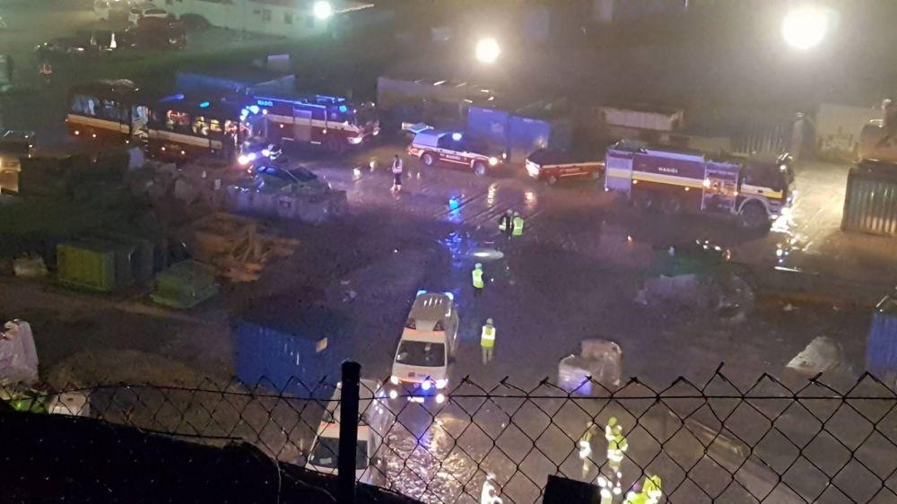 Požiar na tuneli Višňové - 27.4.2017, foto 1
