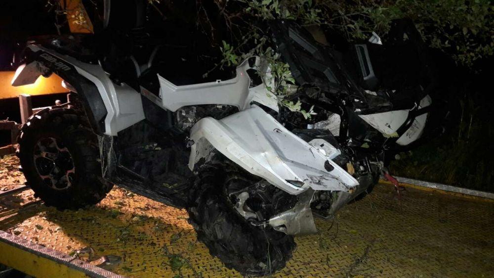 Nehoda štvorkolky v Bytči - 1.6.2017, foto 1