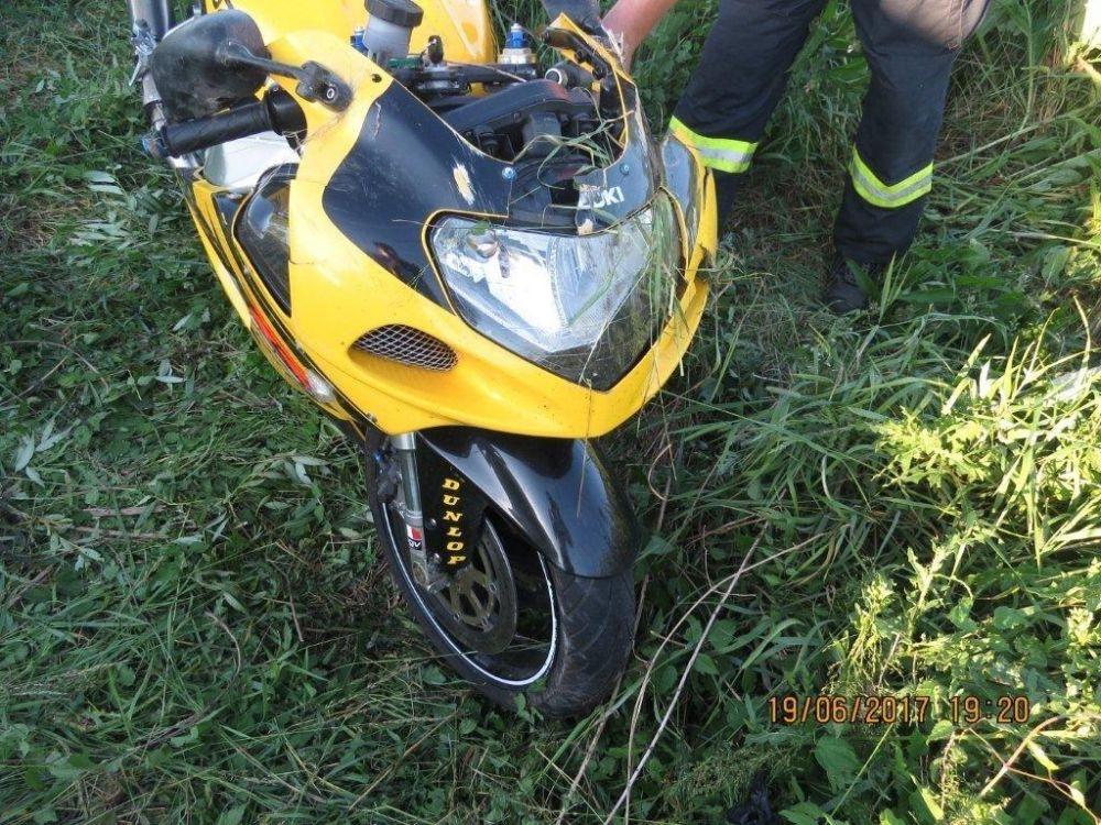 Tragická nehoda motorkára v okrese Bytča 19.6.2017, foto 1