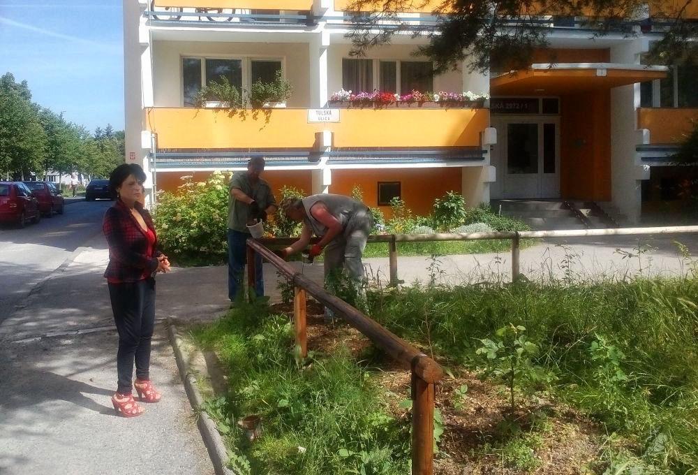 Drevené ohrady na sídlisku Vlčince oživili novým náterom, foto 1