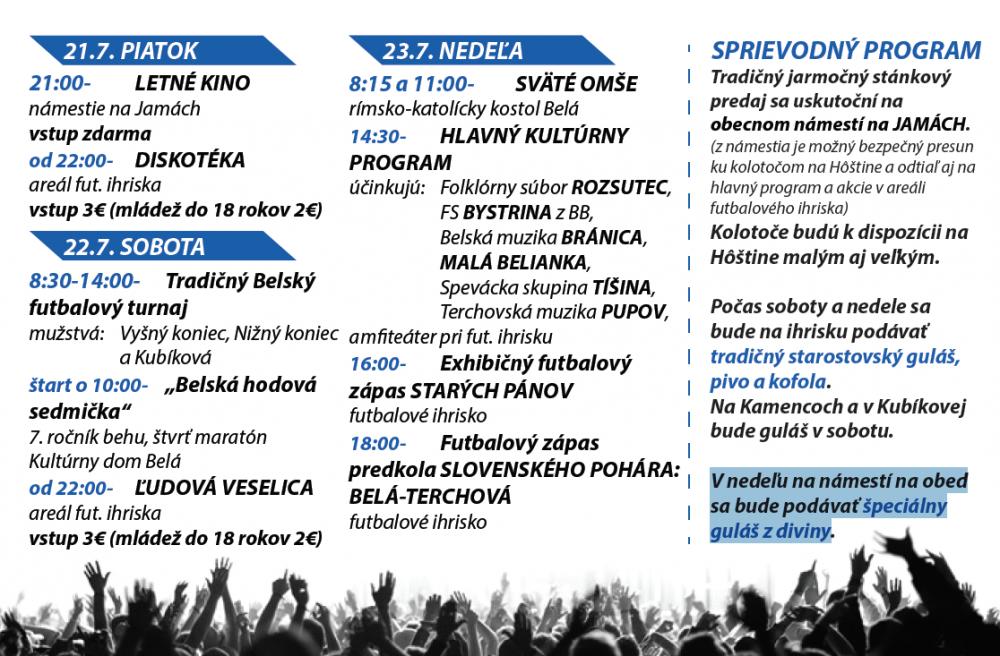 Belská púť 2017 - program a pozvánka, foto 1
