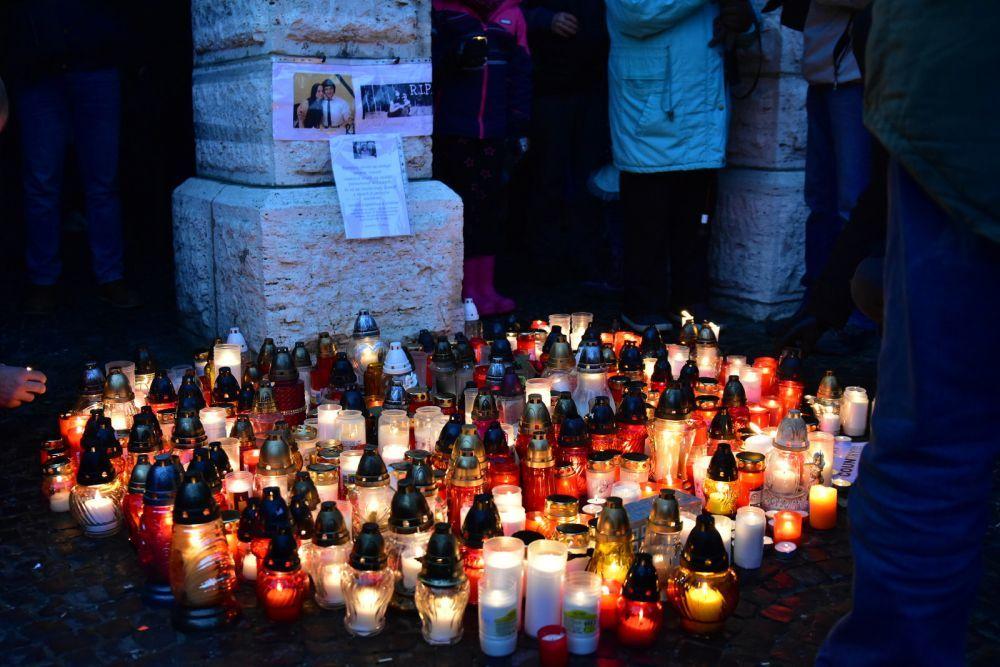 Tichá spomienka na Jána Kuciaka v Žiline, foto 1