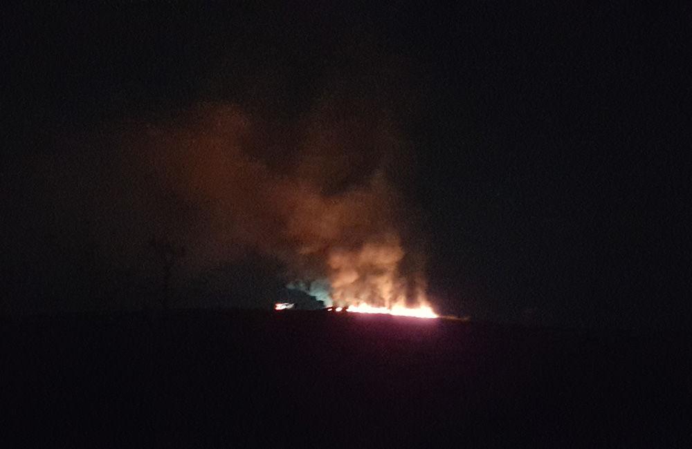 Nočný požiar pri obci Rosina 22.4.2018, foto 3