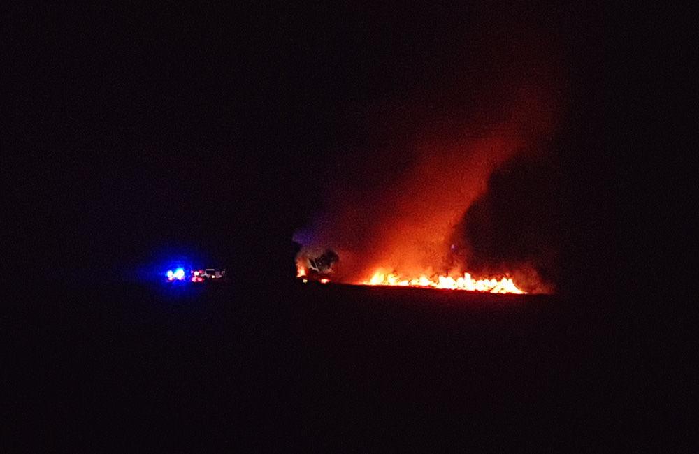 Nočný požiar pri obci Rosina 22.4.2018, foto 4