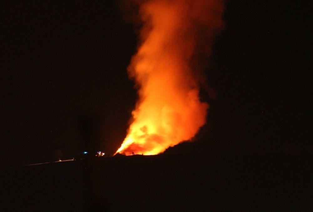 Nočný požiar pri obci Rosina 22.4.2018, foto 5