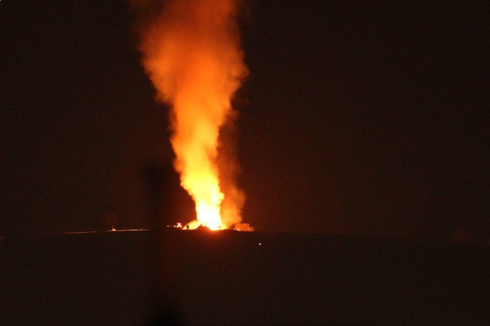 Nočný požiar pri obci Rosina 22.4.2018, foto 6