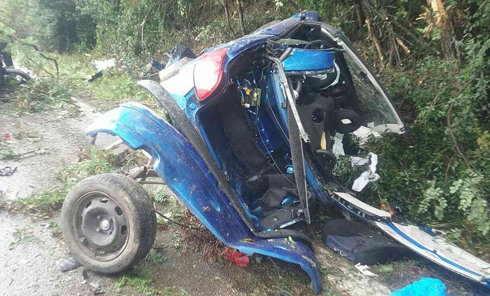 Dopravná nehoda pri Turčianskych Tepliciach 26.8.2018, foto 2