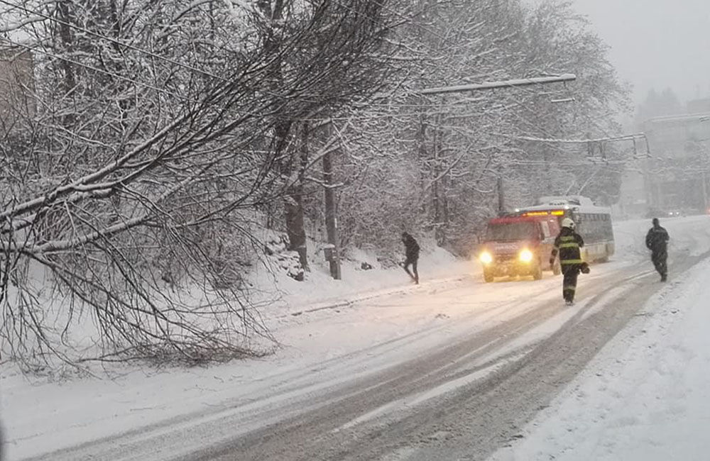 Aktuálna situácia s nepriaznivým počasím v Žiline 3.1.2019, foto 1