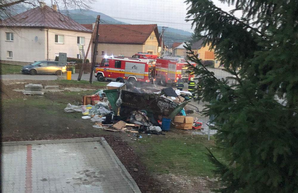 FOTO: Neznámy páchateľ podpálil kontajner s nadrozmerným odpadom v Závodí, foto 3