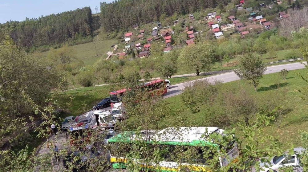 Dopravná nehoda pod sídliskom Žilina - Hájik 25.4.2019, foto 4