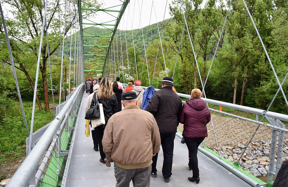 Slávnostné otvorenie lávky medzi mestskými časťami Vranie a Brodno, foto 2