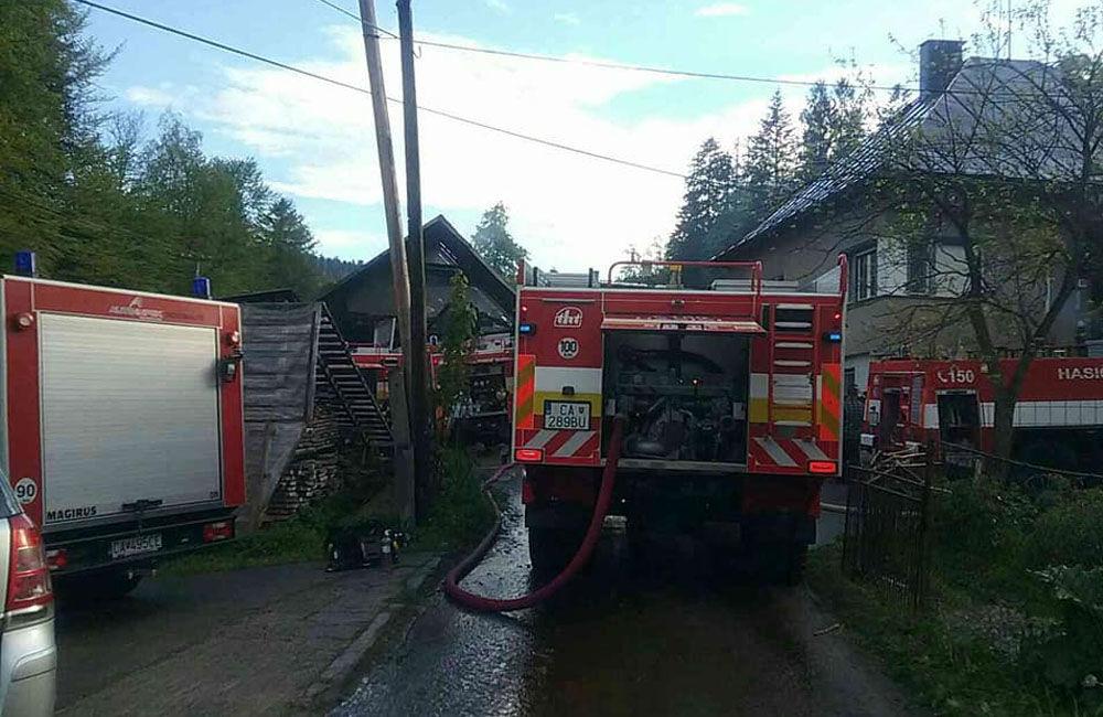 Požiar rodinného domu a prístavby v katastri obce Skalité 18.5.2019, foto 2