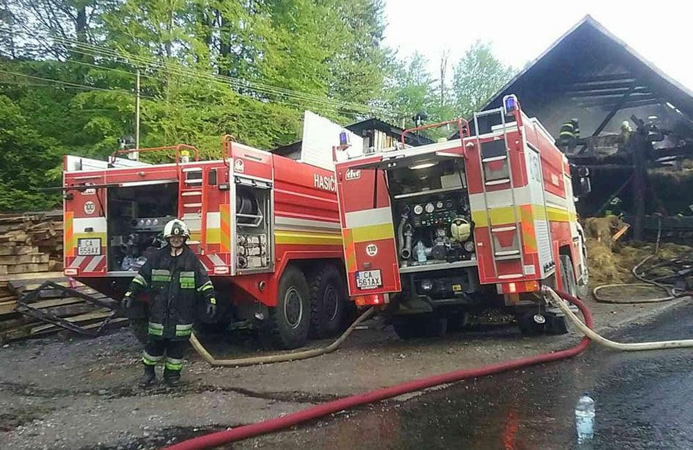 Požiar rodinného domu a prístavby v katastri obce Skalité 18.5.2019, foto 4