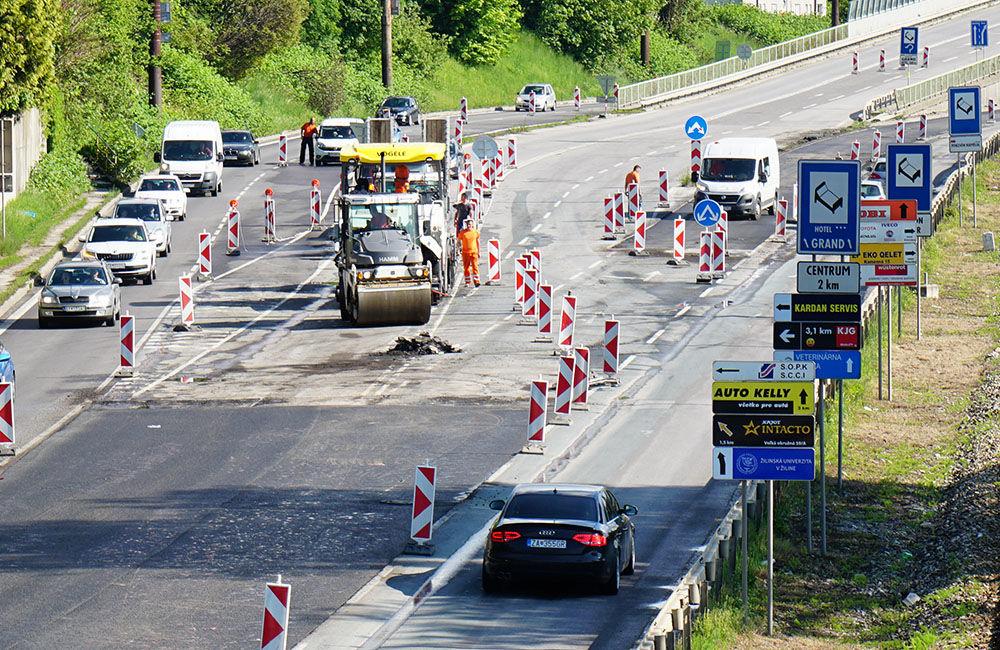 FOTO: Slovenská správa ciest urýchľuje rekonštrukciu cesty pod Rondlom, asfaltuje sa už od rána, foto 1