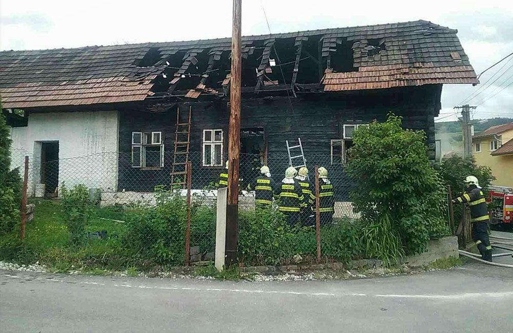 Požiar drevenice v obci Bitarová pri Žiline 20.5.2019, foto 5