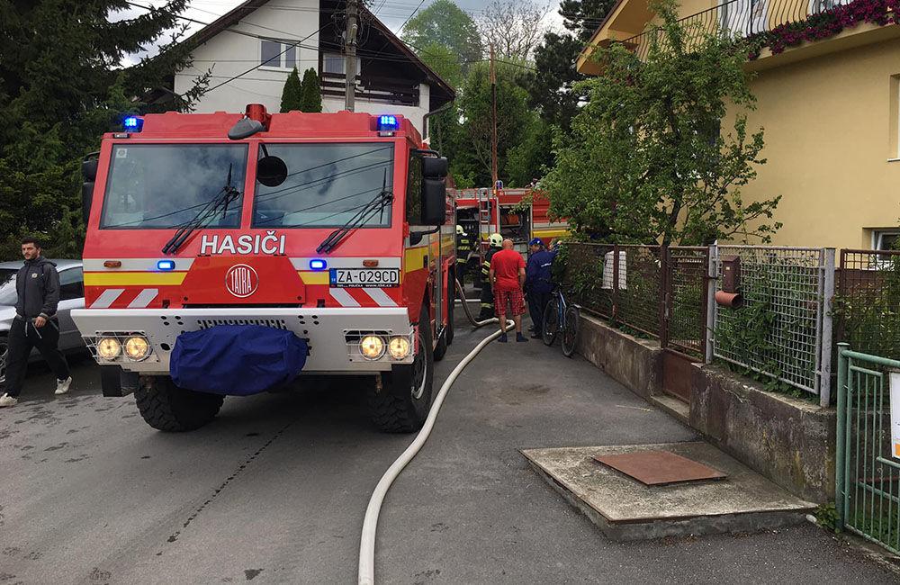 Požiar drevenice v obci Bitarová pri Žiline 20.5.2019, foto 2