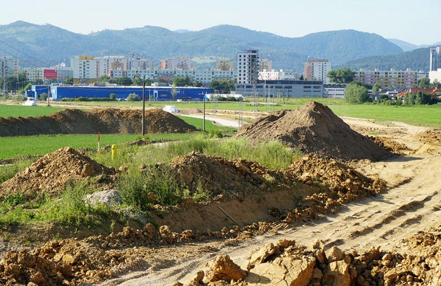 FOTO: Aktuálny stav prác na stavbe diaľničného privádzača 27.6.2019, foto 1