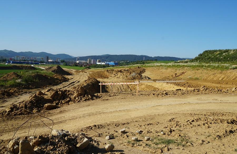 FOTO: Aktuálny stav prác na stavbe diaľničného privádzača 27.6.2019, foto 5
