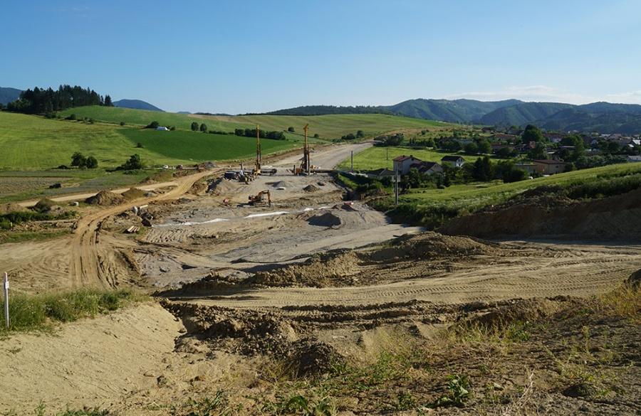 FOTO: Aktuálny stav prác na stavbe diaľničného privádzača 27.6.2019, foto 10