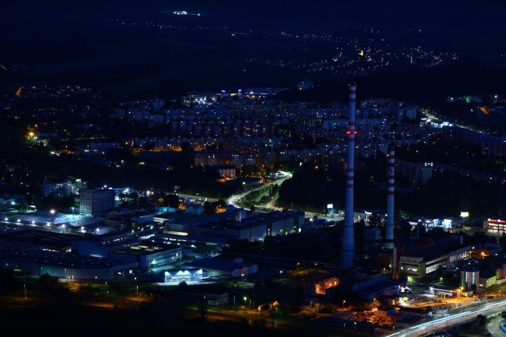 FOTO: Nočné zábery Žiliny z vyhliadky na Dubni, foto 4
