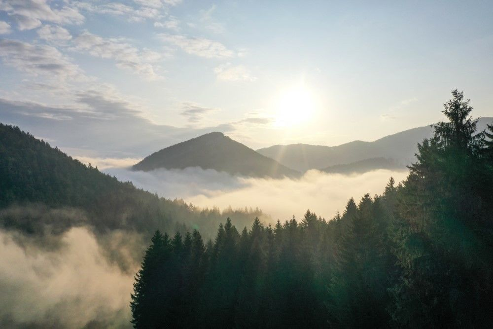 FOTO+VIDEO: Teplotná inverzia nad obcou Višňové pri Žiline
