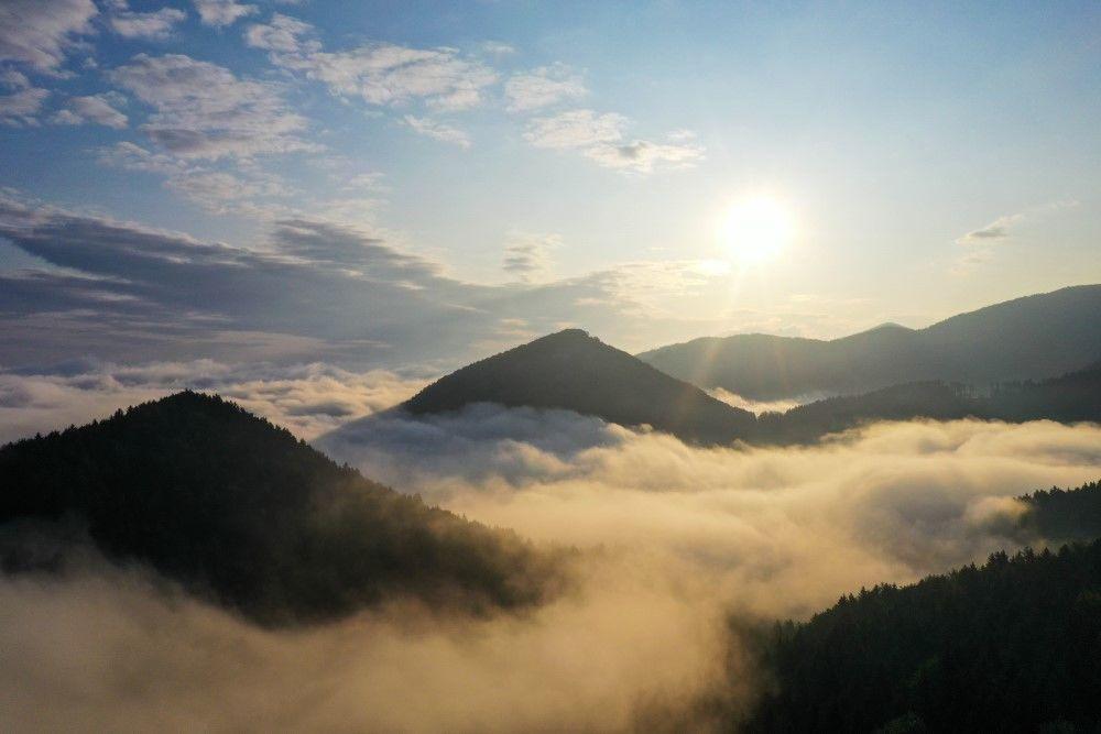 FOTO+VIDEO: Teplotná inverzia nad obcou Višňové pri Žiline, foto 2