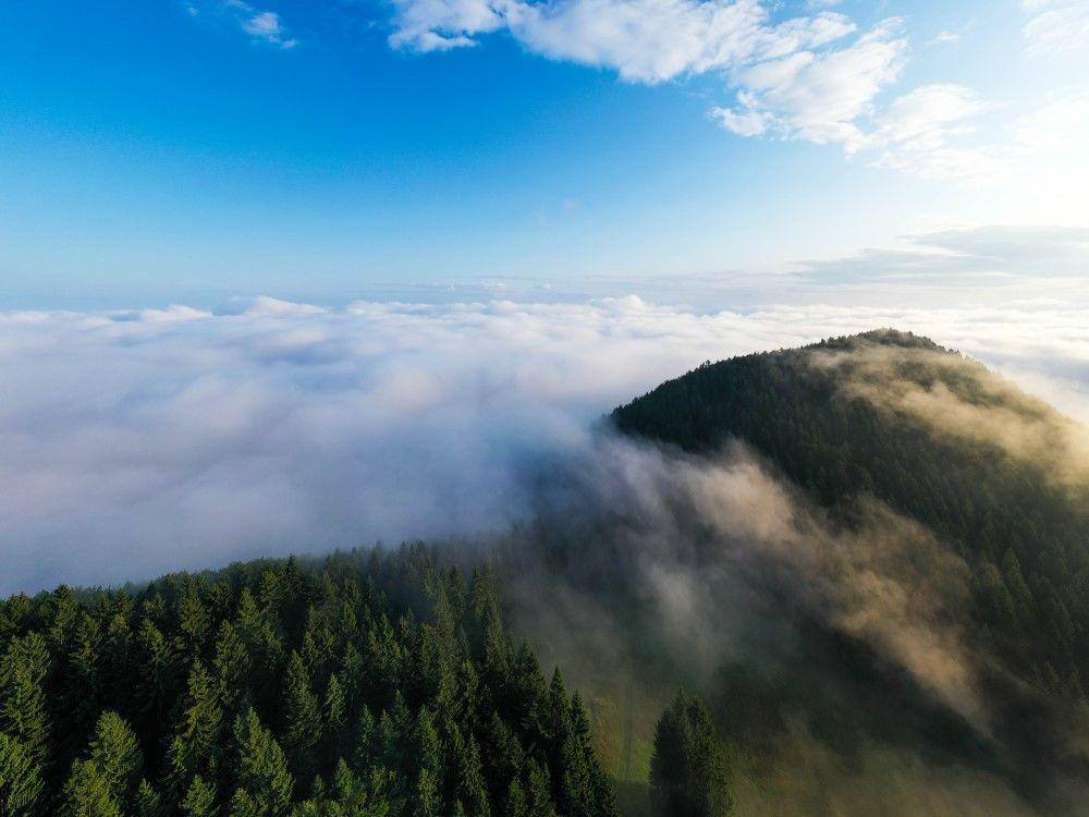 FOTO+VIDEO: Teplotná inverzia nad obcou Višňové pri Žiline, foto 6