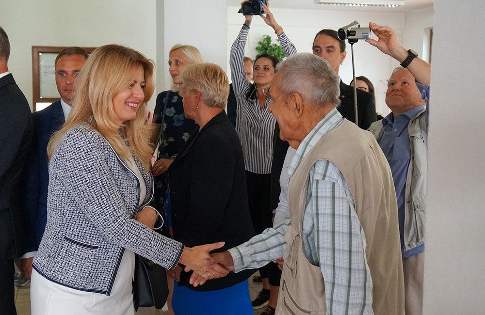 FOTO: Návšteva prezidentky SR Zuzany Čaputovej v Žiline - Denné centrum a Denný stacionár Vlčince, foto 5