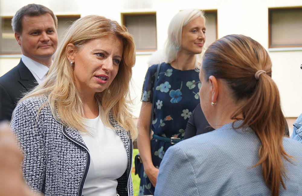 FOTO: Návšteva prezidentky SR Zuzany Čaputovej v Žiline - Denné centrum a Denný stacionár Vlčince, foto 7