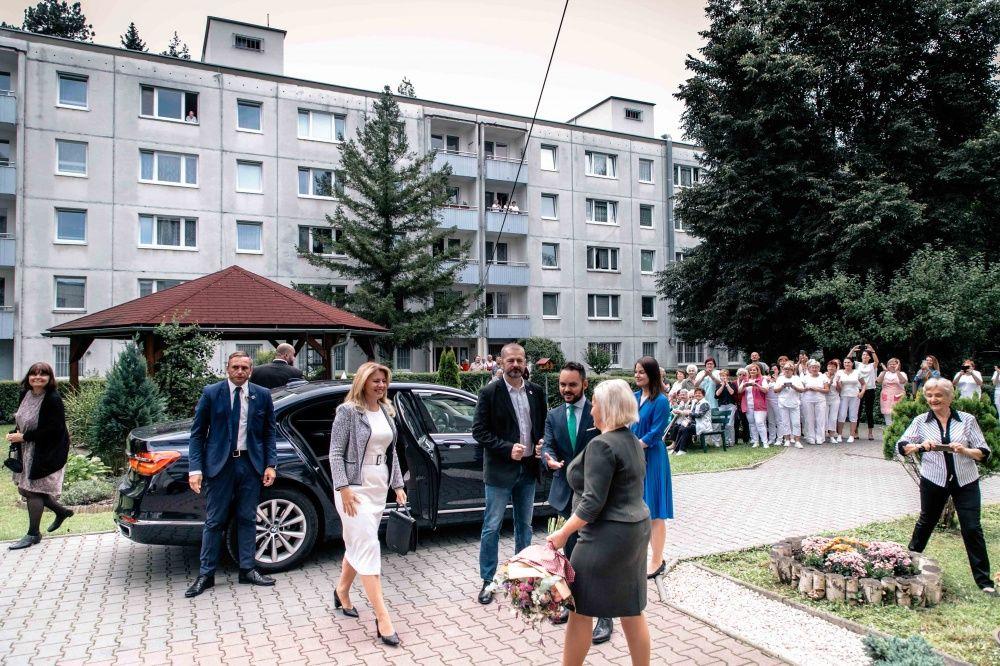 FOTO: Návšteva prezidentky SR Zuzany Čaputovej v Žiline - Denné centrum a Denný stacionár Vlčince, foto 10