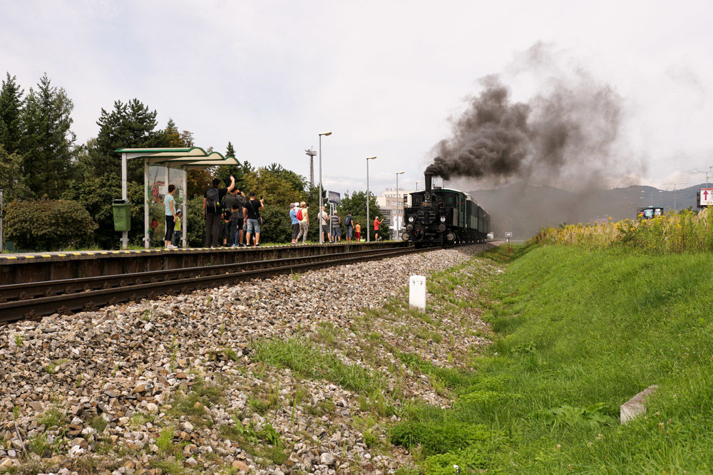 Historický rušeň a vozne v Žiline - 120. výročie Rajeckej Anče, foto 2