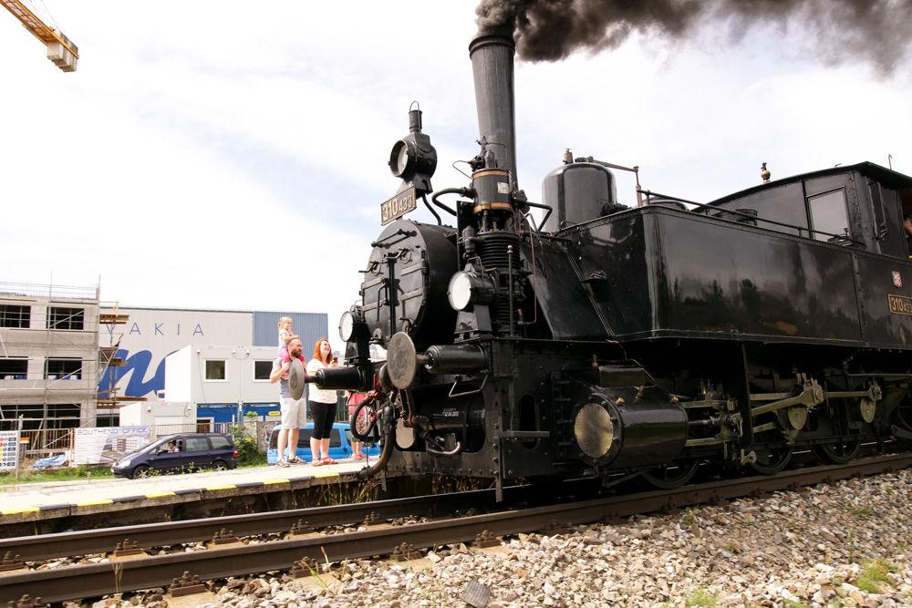 Historický rušeň a vozne v Žiline - 120. výročie Rajeckej Anče, foto 5