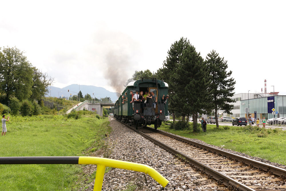 Historický rušeň a vozne v Žiline - 120. výročie Rajeckej Anče, foto 18