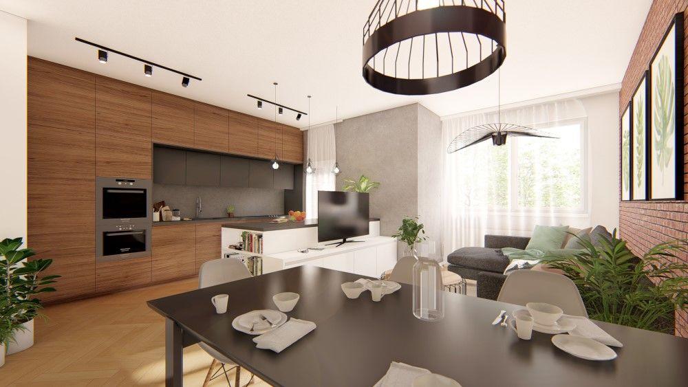 Rezidenčný projekt RETRO - vizualizácie interiéru, foto 2