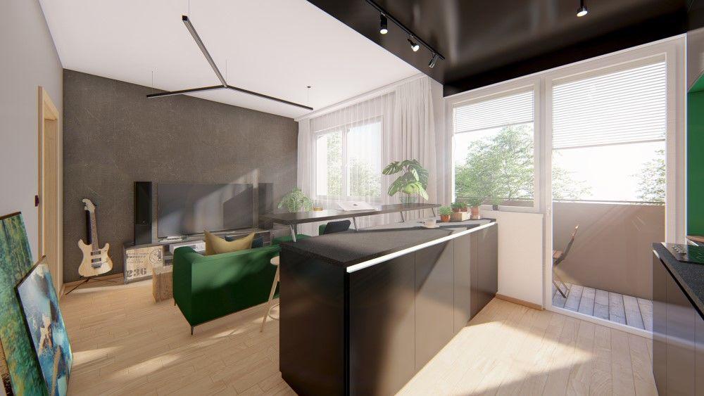 Rezidenčný projekt RETRO - vizualizácie interiéru, foto 11