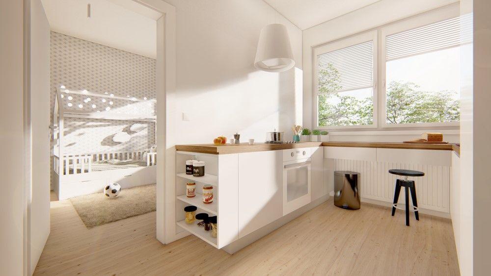 Rezidenčný projekt RETRO - vizualizácie interiéru, foto 5