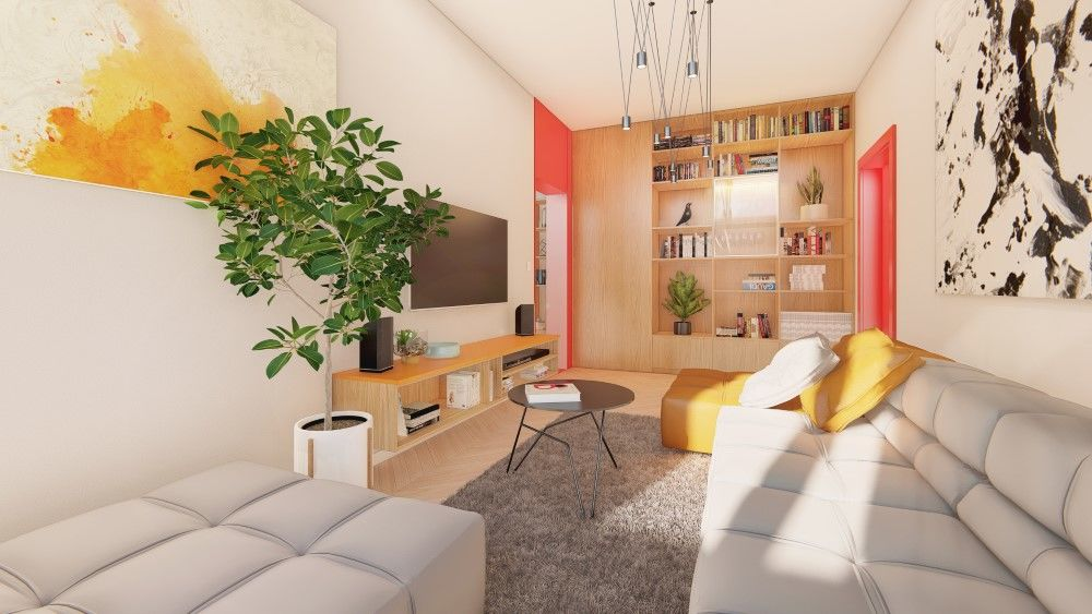Rezidenčný projekt RETRO - vizualizácie interiéru, foto 7