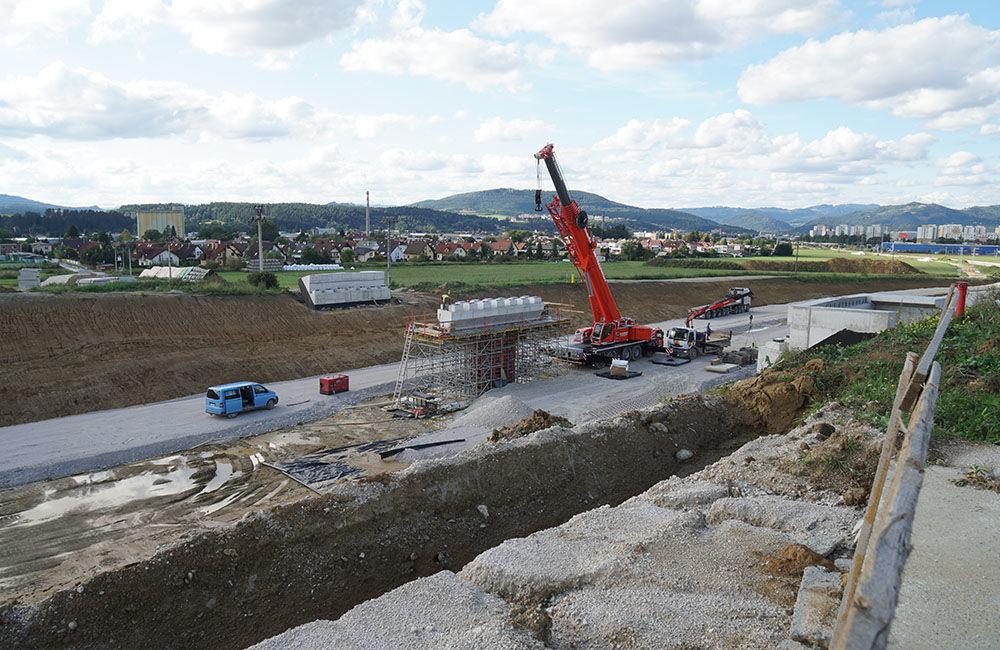 FOTO: Aktuálny stav prác na stavbe diaľničného privádzača 10.9.2019, foto 1