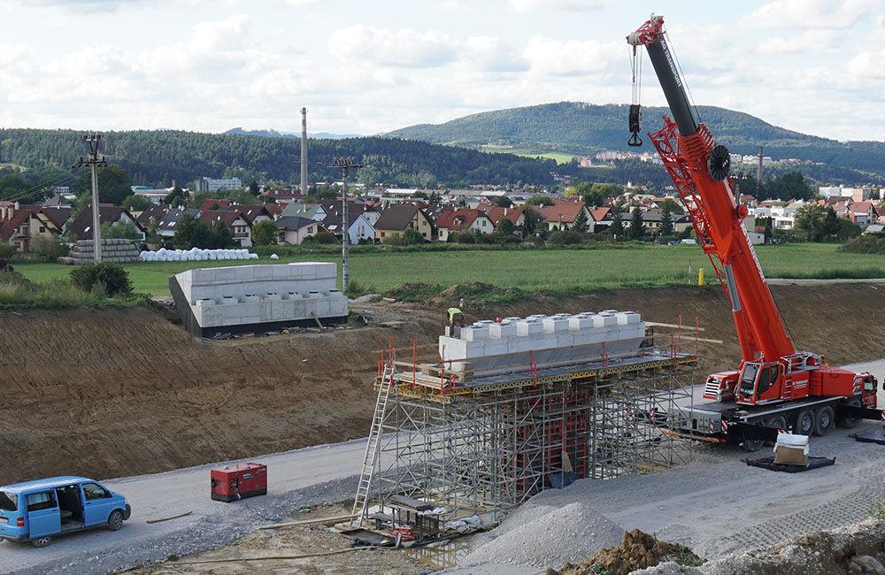FOTO: Aktuálny stav prác na stavbe diaľničného privádzača 10.9.2019, foto 4