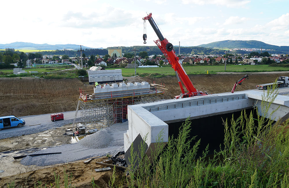 FOTO: Aktuálny stav prác na stavbe diaľničného privádzača 10.9.2019