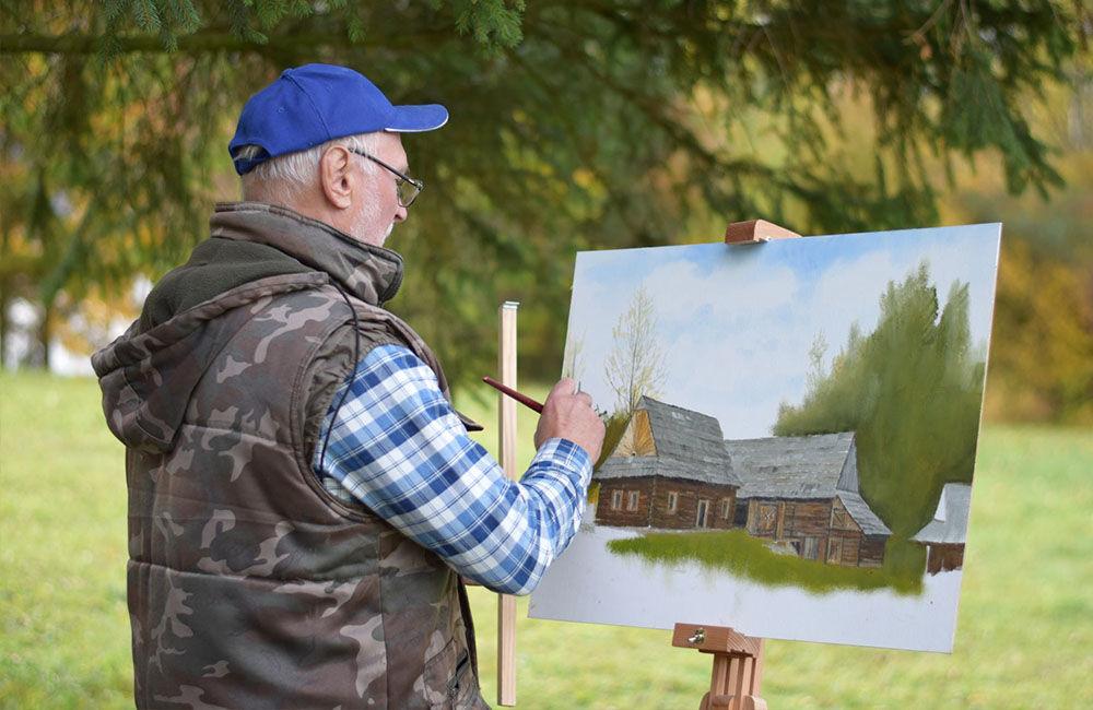 Dvadsať maliarov z Klubu neprofesionálnych výtvarníkov sa zdokonaľovalo v technike kresby a maľby, foto 2