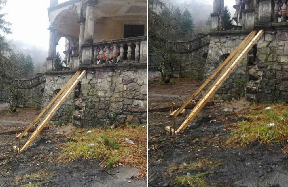 FOTO: Na zámku v Kunerade začali s prvými záchrannými prácami, foto 3