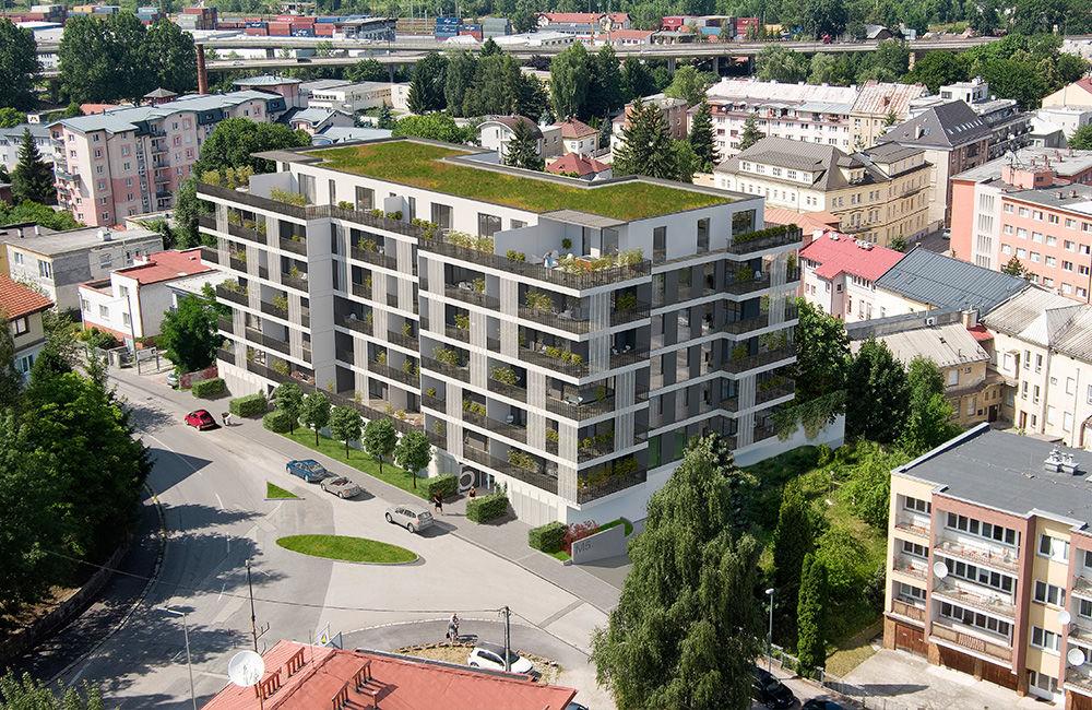 Rezidencia Murgašova zmení nepeknú betónovú plochu na moderný bytový dom, foto 2