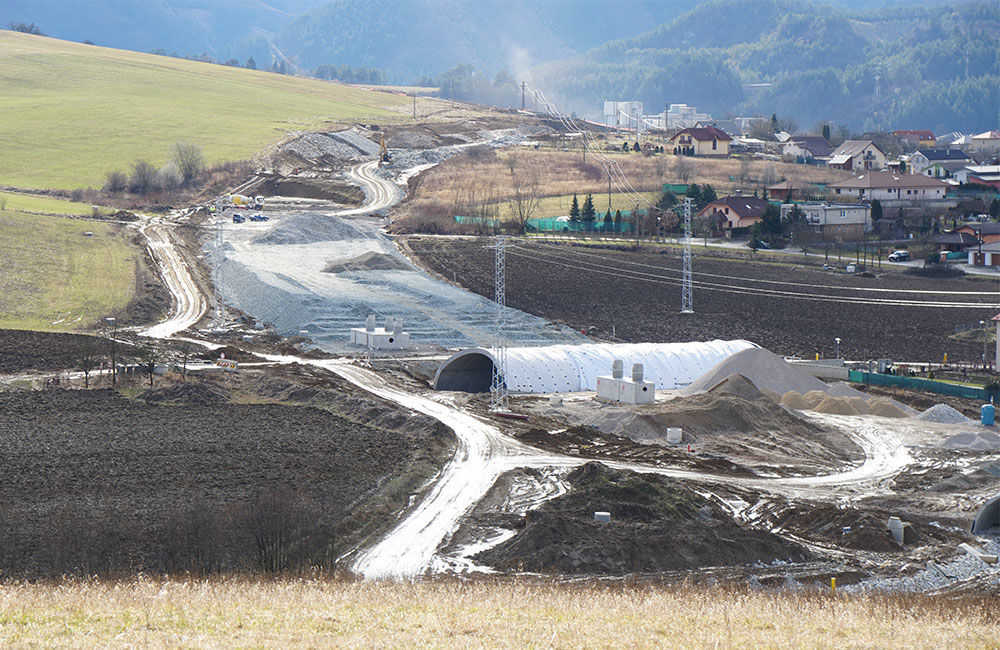 FOTO: Aktuálny stav prác na stavbe diaľničného privádzača 02.03.2020, foto 1